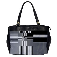 Black And White Endless Window Office Handbags