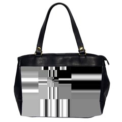 Black And White Endless Window Office Handbags (2 Sides)