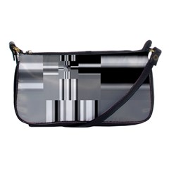 Black And White Endless Window Shoulder Clutch Bags