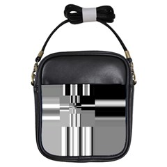 Black And White Endless Window Girls Sling Bags