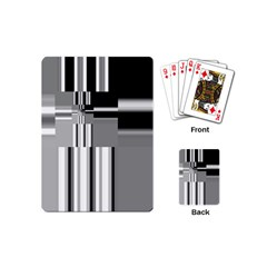 Black And White Endless Window Playing Cards (mini)
