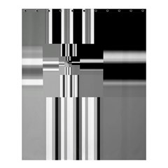 Black And White Endless Window Shower Curtain 60  X 72  (medium)