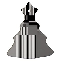 Black And White Endless Window Christmas Tree Ornament (two Sides)