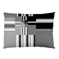 Black And White Endless Window Pillow Case (two Sides)