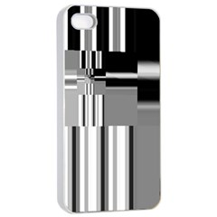 Black And White Endless Window Apple Iphone 4/4s Seamless Case (white)