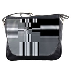 Black And White Endless Window Messenger Bags