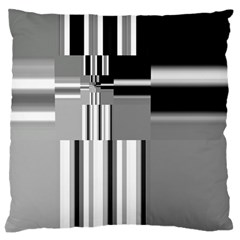 Black And White Endless Window Large Cushion Case (one Side)