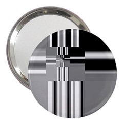 Black And White Endless Window 3  Handbag Mirrors