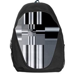 Black And White Endless Window Backpack Bag