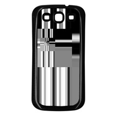 Black And White Endless Window Samsung Galaxy S3 Back Case (black)