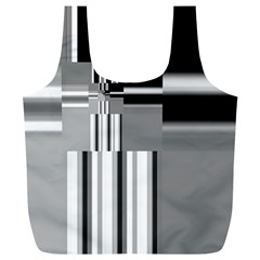 Black And White Endless Window Full Print Recycle Bags (l)