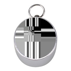 Black And White Endless Window Mini Silver Compasses