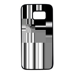 Black And White Endless Window Samsung Galaxy S7 Black Seamless Case