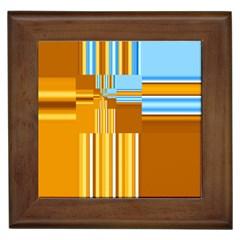 Endless Window Blue Gold Framed Tiles