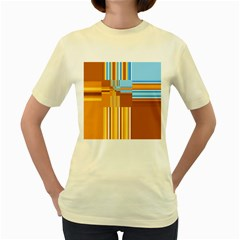 Endless Window Blue Gold Women s Yellow T Shirt