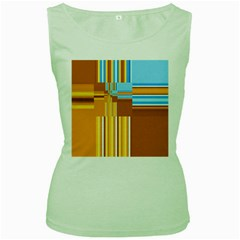 Endless Window Blue Gold Women s Green Tank Top