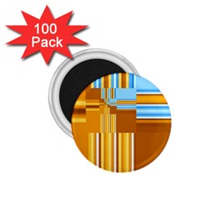 Endless Window Blue Gold 1 75  Magnets (100 Pack)