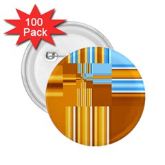 Endless Window Blue Gold 2 25  Buttons (100 Pack)