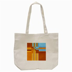 Endless Window Blue Gold Tote Bag (cream)