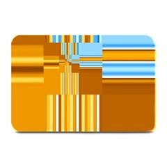 Endless Window Blue Gold Plate Mats