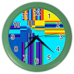 Colorful Endless Window Color Wall Clocks
