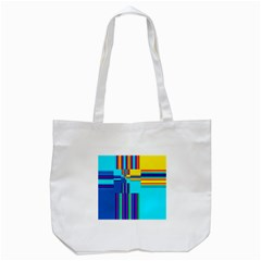 Colorful Endless Window Tote Bag (white)