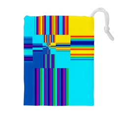 Colorful Endless Window Drawstring Pouches (extra Large)
