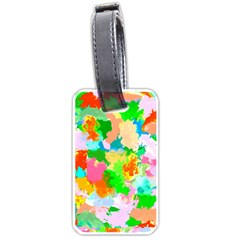Colorful Summer Splash Luggage Tags (one Side)