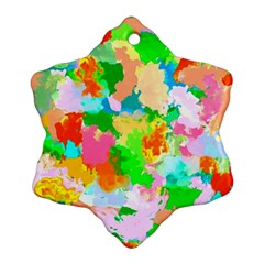 Colorful Summer Splash Ornament (snowflake)