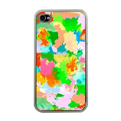 Colorful Summer Splash Apple Iphone 4 Case (clear)