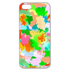 Colorful Summer Splash Apple Seamless Iphone 5 Case (clear)