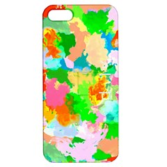 Colorful Summer Splash Apple Iphone 5 Hardshell Case With Stand