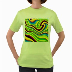Summer Wave Colors Women s Green T Shirt