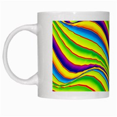 Summer Wave Colors White Mugs