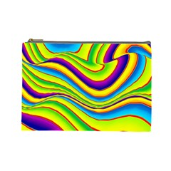 Summer Wave Colors Cosmetic Bag (large)