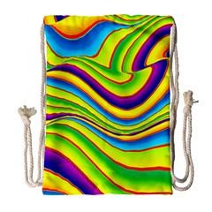 Summer Wave Colors Drawstring Bag (large)