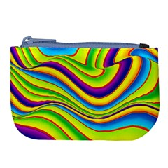 Summer Wave Colors Large Coin Purse