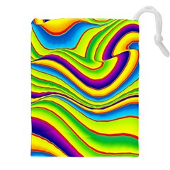 Summer Wave Colors Drawstring Pouches (xxl)