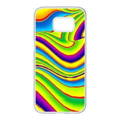 Summer Wave Colors Samsung Galaxy S7 Edge White Seamless Case