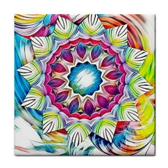 Sunshine Feeling Mandala Tile Coasters