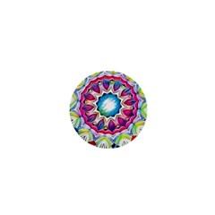 Sunshine Feeling Mandala 1  Mini Magnets