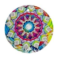 Sunshine Feeling Mandala Ornament (round)