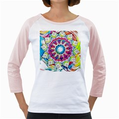 Sunshine Feeling Mandala Girly Raglans