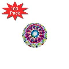 Sunshine Feeling Mandala 1  Mini Buttons (100 Pack)