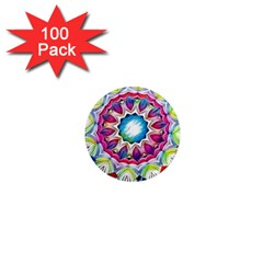 Sunshine Feeling Mandala 1  Mini Magnets (100 Pack)