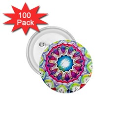 Sunshine Feeling Mandala 1 75  Buttons (100 Pack)