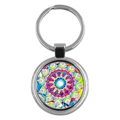 Sunshine Feeling Mandala Key Chains (round)