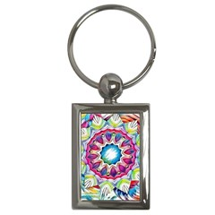 Sunshine Feeling Mandala Key Chains (rectangle)