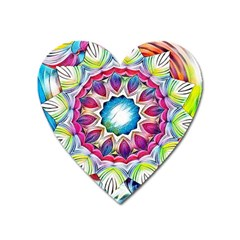 Sunshine Feeling Mandala Heart Magnet