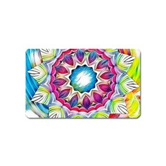 Sunshine Feeling Mandala Magnet (name Card)